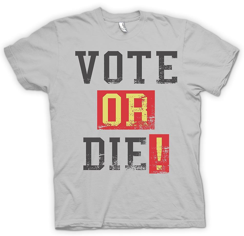 Camiseta para hombre - Vote Or Die - Funny South Park inspirado