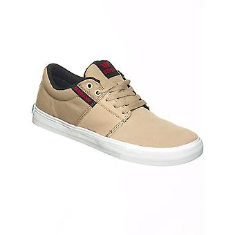 Supra Tan-White Stacks Vulc Shoe