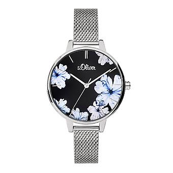 s.Oliver women's watch wristwatch stainless steel SO-3777-MQ