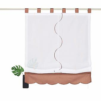私の家の刺繍 Raffrollo » Tayma «半透明のループ白 H/B 155x140 cm