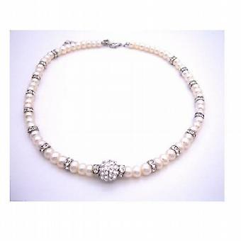 Madre de novia novio regalo perlas agua dulce con Rondells plata plateado