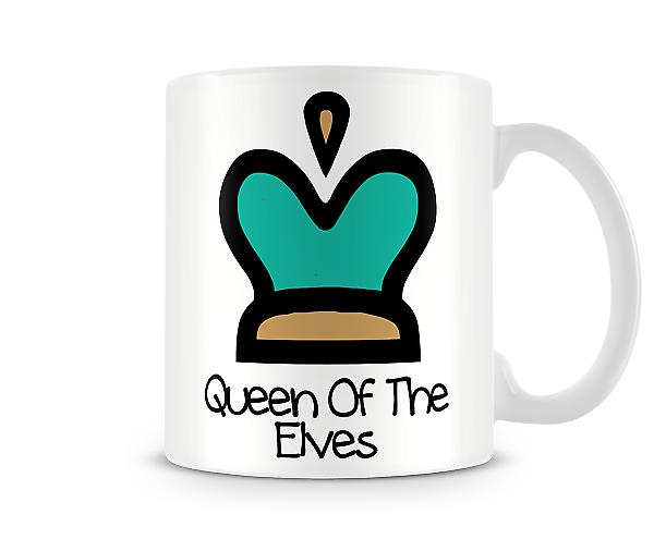 Decorative Writing Cartoon Crown Queen Of The Elves Printed Text Mug