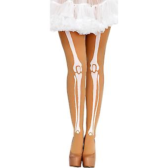 Skeleton Ptinted Tights