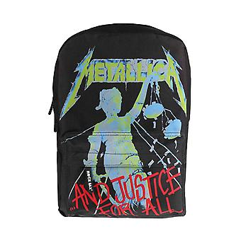 Metallica Backpack And Justice For All Band Logo Rucksack new Official Black