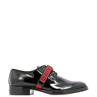 جيفنشي أسود براءات الاختراع والجلود أحذية الرباط إلى أعلى
