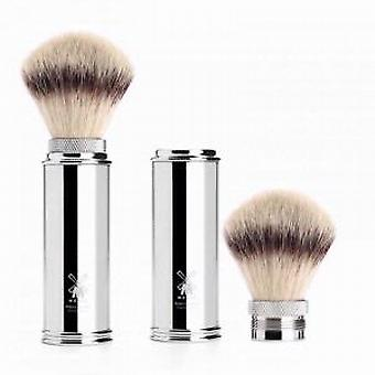 Muhle Synthetic Hair Travel Shaving Brush in Nickel Plated Handle