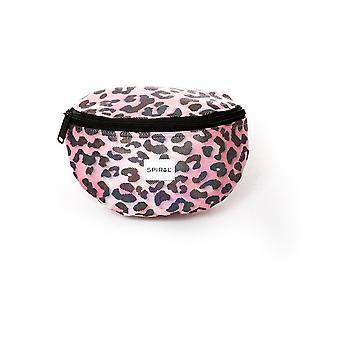 Spiral Pink Shimmer Leopard Bum Bag