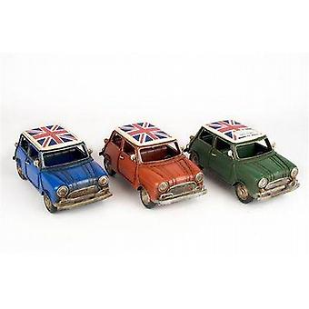 Metal Model Classic/Vintage Mini 22cm With Union Jack Roof - One Supplied