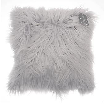 Country Club Long Pile Cushion, Grey