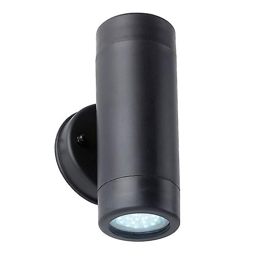 Saxby EL-40054 Icarus IP44 2.5W 2 Light Modern Outdoor Wall Light In Black