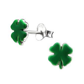 Für Sterling Silber vier Leaf Clover Stud Ohrringe