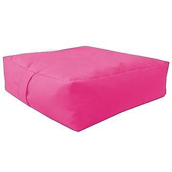 Pink Water resistent Large Bean Floor Garden Slab Cushion Stool Pouffe
