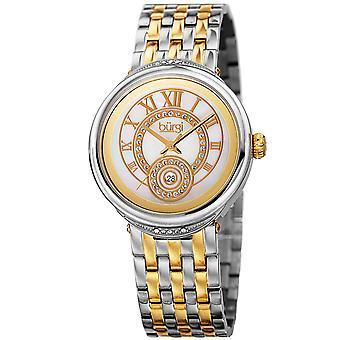 Burgi Women's Quartz  Mother of Pearl Dial Two-Tone Bracelet Watch BUR164TTG