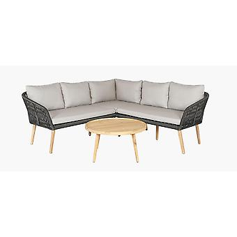 Cosy Garden Altea salon incl. table d'appoint 208x208x76 cm-vert