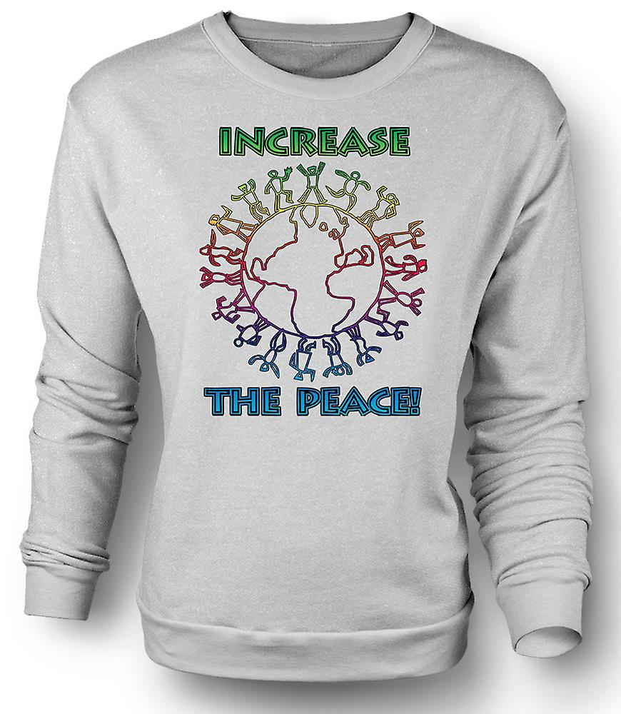 Mens Sweatshirt Increase The Peace - Anti War