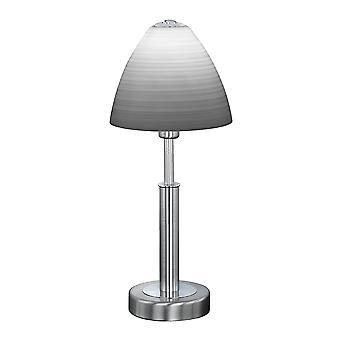 Wofi Savannah - 1 lampe de table légère Matt Nickel - 8722.01.64.0006