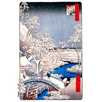 Poster - Studio B - Hiroshige - Drum Bridge 36x24