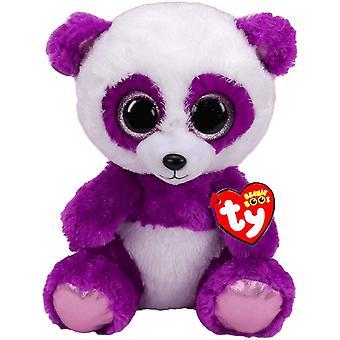 TY Beanie Boos Boom Boom Purple Panda stuffed animal Plush soft 24cm