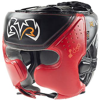 Rival Boxing RHG10 Intelli-Shock d30 Headgear, Black/Red - mma training sparring