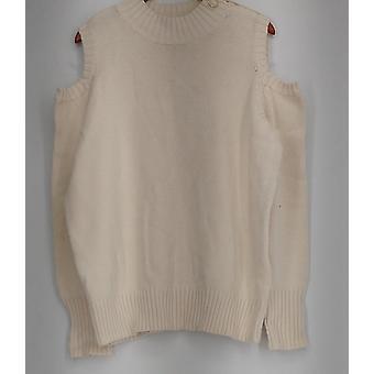 Susan graver trui zip terug detail koude schouder ivoor A297157