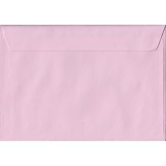 Baby Pink Peel/Seal C5/A5 Coloured Pink Envelopes. 100gsm FSC Sustainable Paper. 162mm x 229mm. Wallet Style Envelope.