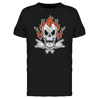 Metal Punk With Fire  Tee Men's -Image by Shutterstock