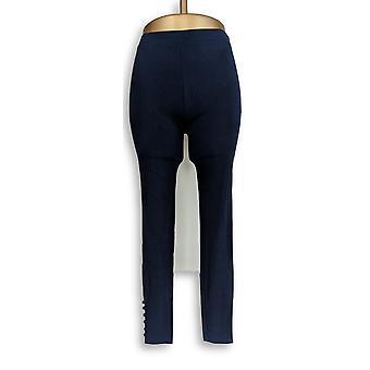 Susan Graver Leggings Weekend Stretch Baumwolle Modal Knöchel blau A278906
