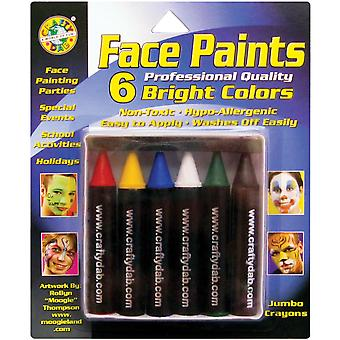 Jumbo Face Paints 6 Pkg Bright 800 32