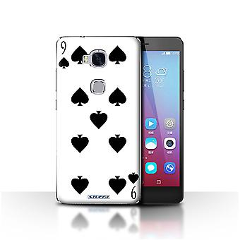 STUFF4 Case/Cover for Huawei Honor 5X/GR5/9 of Spades/Playing Cards