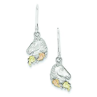 Sterling Silver and 12k Small Horsehead Leverback Earrings