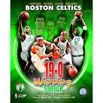 2008-09 Boston Celtics 19-0 portret Plus foto afdrukken