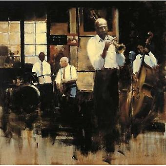 French Quarter Jazz Poster Print by Myles Sullivan