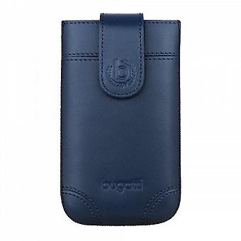 Bugatti SlimCase Dublin Universal Leather Case 7,3x12,2 cm Size M blue