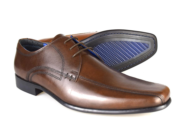 Bürokratie Munster formale Schnür Schuhe für Herren Leder braun