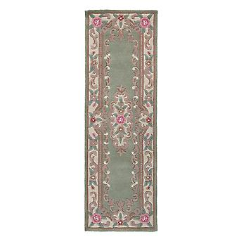 Green Traditional Wool Rug Imperial