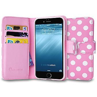 iPhone 6 4.7 caso, i-Blason, iPhone 6 4.7 Leatherbook cartera caso-rosa