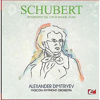 Schubert - symfoni No. 3 i D-dur D.200 [CD] USA importerer