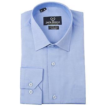 JD Shirts Classic Plain Shirt In Royal Blue