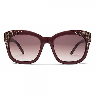 Chloe Suzanna Studded Square Sunglasses In Bordeaux