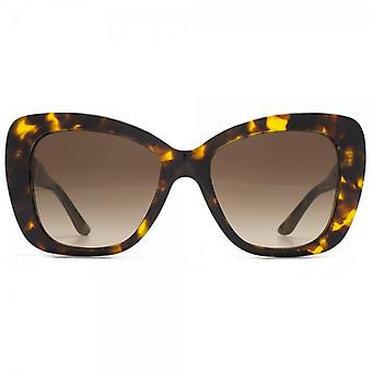 Versace Medusa Logo Flared Sunglasses In Havana