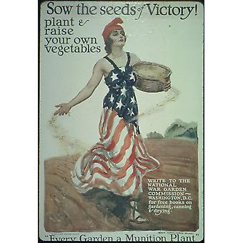Sow the Seeds of Victory Poster Print Giclee