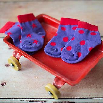 Blade & Rose Purple Polka Dots Children's Socks