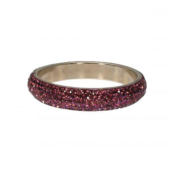 W.A.T Purple Thin Sparkling Crystal Fashion Bangle