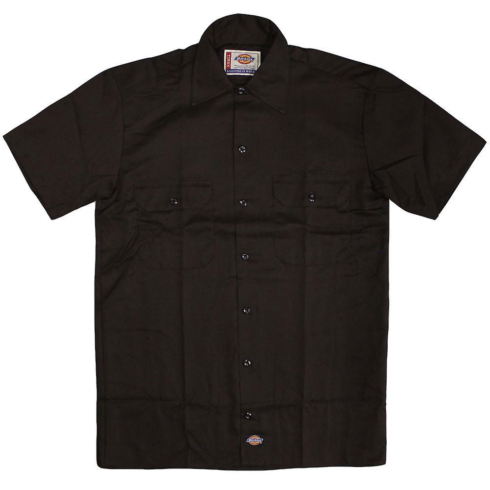 DICKIES 1574 travail Short Sleeve Shirt brun foncé