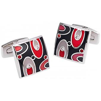 Duncan Walton Easton Cufflinks - Black/Red/Silver