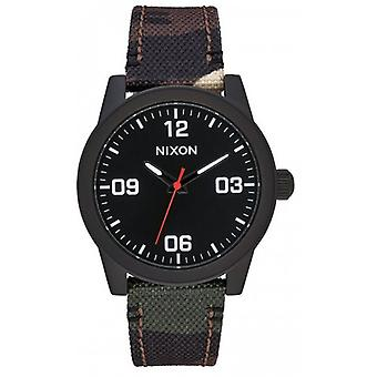 Nixon The G.I. Nylon Watch - Black/Camo