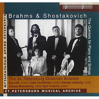 Brahms / st Petersborg Chamber Players - Brahms: klaver kvintet / Sjostakovitj: Piano Quintet [CD] USA import