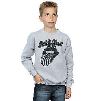 Rolling Stones drenge monokrom amerikanske tungen Sweatshirt