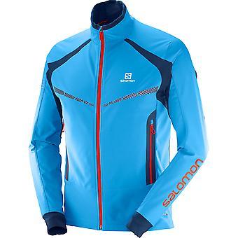Salomon Herren Laufjacke RS Warm Softshell Blau - 397082