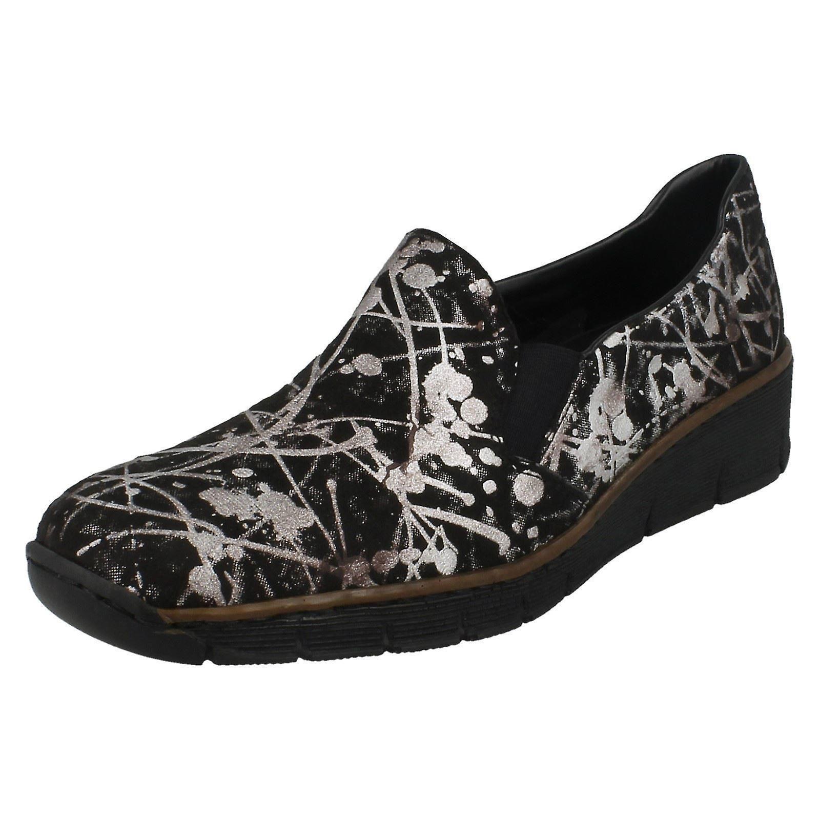 Damen Slip Rieker Slip Damen auf Casual Casual auf Schuhe 53766 dc42cd ... e4c20f